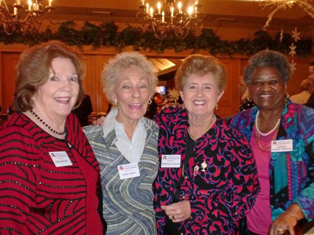 Fran Hancock, Carol Hurst, Mercedes Garcia, Dr. Barbara Thomas-Jones