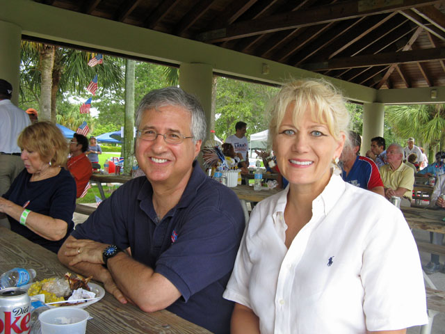 Commissioner Steven Abrams and Committeewoman Cindy Tindell