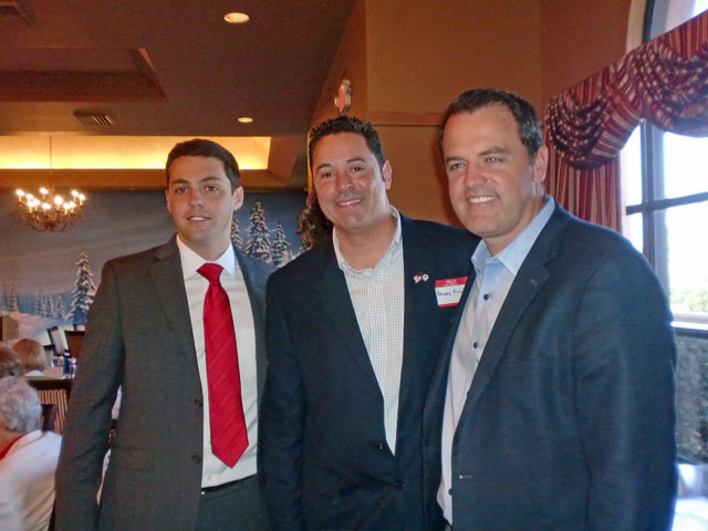 Rick Kozell, Henry Colon (CD21 candidate) and speaker Charles Bender