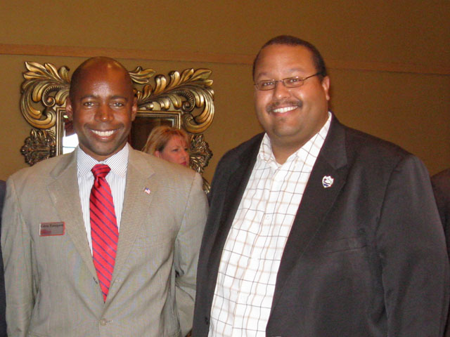 CD 18 Candidate Calvin Turnquest and Mike Barnett